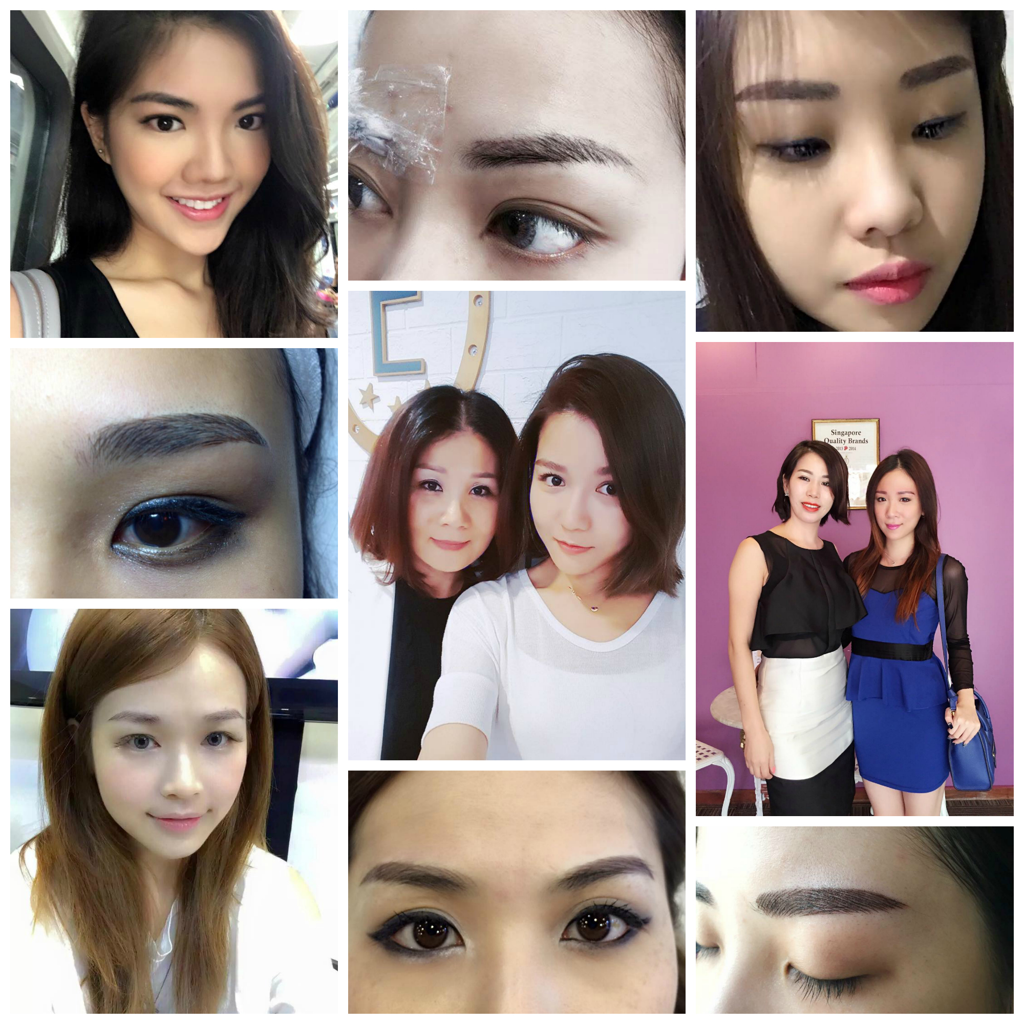6D Eyebrow Collage