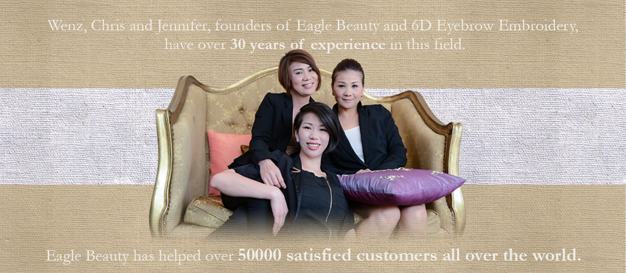 Ms. Chris Xu, Ms. Lin Jia and Ms. Wenz Zhang founders of Eagle Beauty