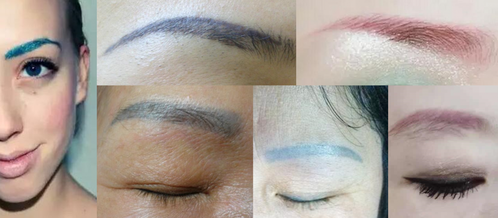 How an Low Grade Pigment changes your brows to Red, Blue or Green.